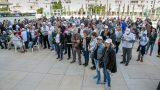 עצרת בכיכר הבימה למען ניצולי השואה